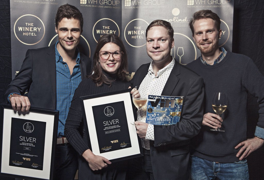Per, Rebecka, Hampus and Jonatan at the Importer of the year ceremony.